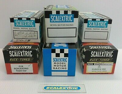 6 X SCALEXTRIC 'VINTAGE' 1960's REPRODUCTION BOXES (With Liners) ALL USED • 4.10£