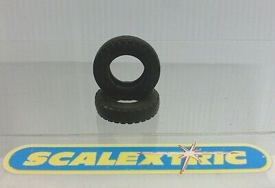 2 ORIGINAL Scalextric 'DUNLOP' TYRES For Vintage Cars 22mm X 6mm (See Below) NEW • 8.99£