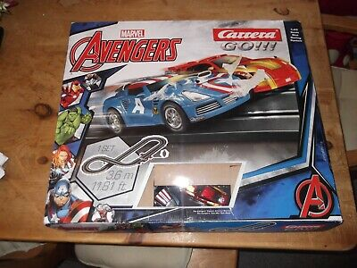 Carrera Toy Marvel Avengers Slot Car Racing Track Set With 2 Cars  • 14.99£
