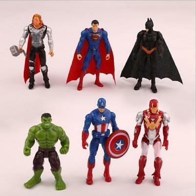6pc Avengers Figures Super Hero Incredible Action Figures Toy Doll Collection • 7.99£