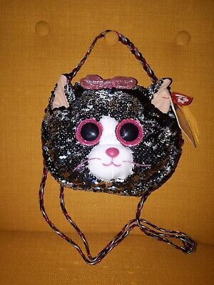 Ty Beanie Babies 95120 Ty Gear Kiki Cat Shoulder Bag Sequined • 12.99£