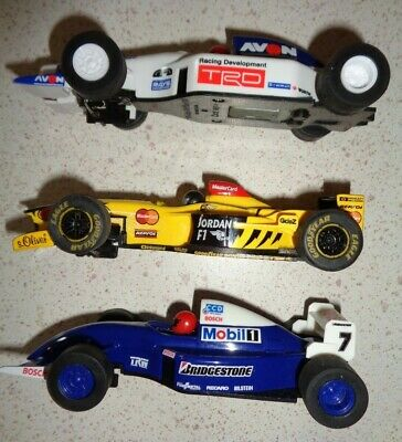 Joblot 3 X Scalextric F-1 Racing Cars - In Working Order & Spare Braids • 4.30£