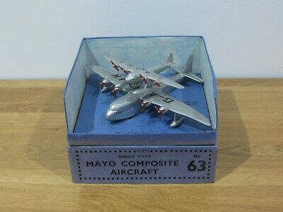 Vintage Pre-war Boxed Dinky Mayo Composite Aircraft (No 63) • 100£