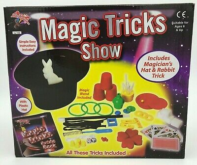 Magic Tricks Show Set Magician Kids Children Child Including Plastic Hat Rabbit • 11.99£