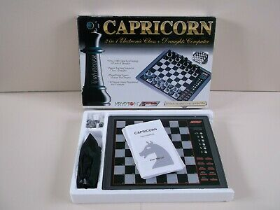Vintage Systema Capricorn 2 In 1 Electronic Chess & Draughts Computer Game • 35£