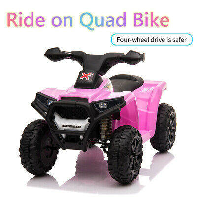 Kids Electric Ride On Quad Bike Battery Powered ATV Outdoor Toddler Children Toy • 42.99£