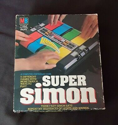 Vintage 1981 MB Super Simon Electronic Game Boxed+Instructions Working Condition • 5£
