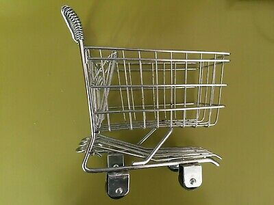 Miniature Supermarket Shopping Trolley • 2£