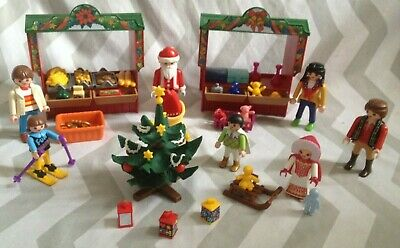 Playmobil Spares Bundle Inc Christmas Market, Inc Figures, Gifts, Tree Etc • 9.99£