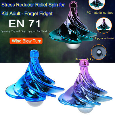 Spinning Top Wind Gyro Decompression Toys Wind Blow Turn Airflow Gyro Desktop • 5.60£