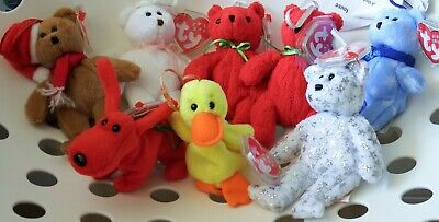 Ty Jingle Beanie Babies X 8 - Retired, Mint Condition With Tag Protectors • 5£