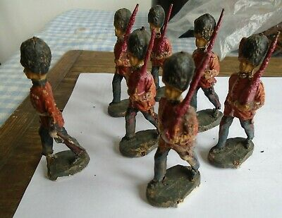 Britains/elastolin Marching Composition Soldiers 90mm  • 35£