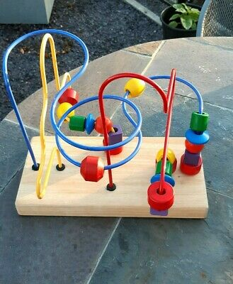 2 WOODEN ACTIVITY LEARNING TOYS (EXCELLENT Condition) • 6£