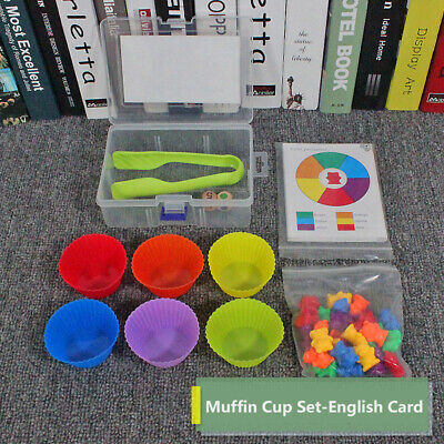 Counting Bears Cups Montessori Matching Game Educational Color Sorting Toys Set • 11.29£
