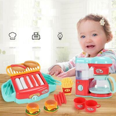 Kitchen Pretend Play Kids Toy Set Grill Set Microwave Toaster Coffee Machine  • 7.99£