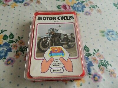 Vintage Dubreq Top Trumps Card Game- Motor Cycles (series 1) • 7.50£
