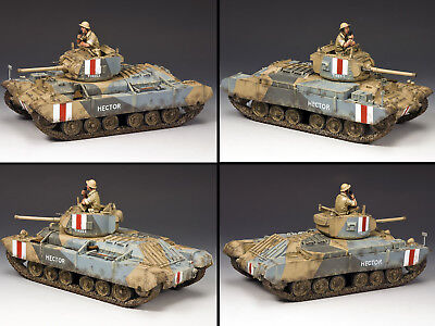 KING AND COUNTRY Valentine MK III Tank WW2 British Eighth Army - EA078 • 229.95£