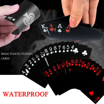 Waterproof Plastic Playing Cards Deck Of PVC Poker Card Creative Party Game Gift • 6.25£