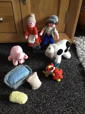 Hand Knitted Farm Farmers Animals And Accessories • 15£