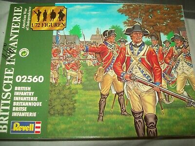 British Infantry - American War Of Independence, 1/72 Scale Soldiers By Revell • 4£