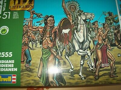 Indians - Wild West, 1/72 Scale Toy Soldiers By Revell • 4£