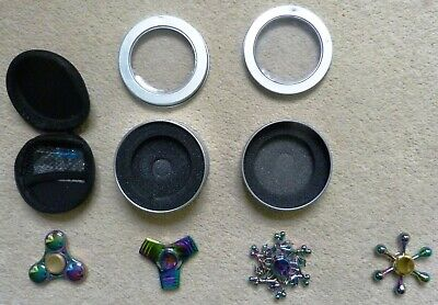 Rainbow Metal Fidget Spinners X4 - Excellent Condition • 4.99£