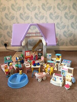 Little Tikes Dolls House, Furniture And Family Characters • 180£
