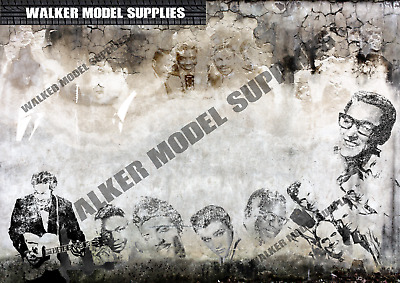 1:18 Scale (3xA4) 50`s Singers Garage Wall - Peel And Apply Stickers 102 • 8.95£