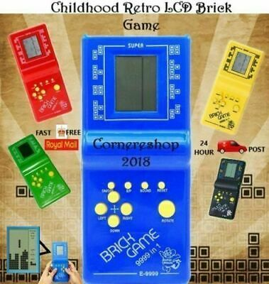 New LCD BRICK GAME SNAKE 999-IN-1 HANDHELD ARCADE CLASSIC GAMES • 4.95£