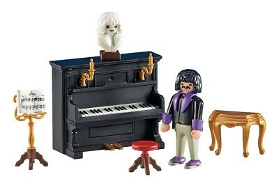 Playmobil 6527 Victorian Mansion House Instrument. Piano, Pianist & Music NEW • 12.99£