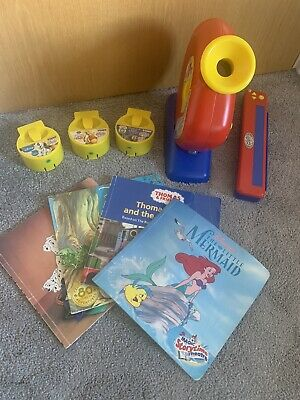 Tomy Magic Story Time Theatre With Stand Book Holder With 4 Cartridges & Book • 40£