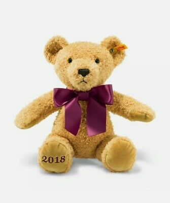 Steiff Cosy Year Bear 2018 Soft Cuddly Toy 113321 BRAND NEW & Sealed • 35£
