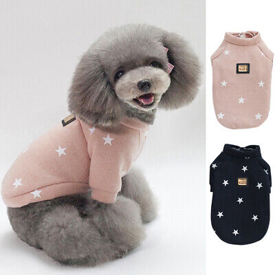 Pet Dog Sweater Jumper Puppy Cat Winter Clothes Coat Jacket Warm Apparel Outfit • 8.51£