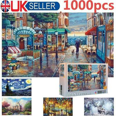 Puzzle Adult 1000 Piece Wooden Jigsaw Decompression Home Game Toy Gift Kids • 6.99£