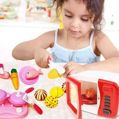 Kitchen Toy Play Set Realistic Microwave Toy And Cutting Fruits • 14.99£