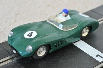 Scalextric E2 C57 Aston Martin DBR Green With Lights And Original Box EXCELLENT • 99.99£