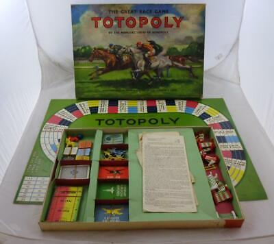 TOTOPOLY Board Game 'The Great Race Game' With Metal Horses. Vintage 1950's? • 10£