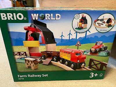 33719 BRIO Farm Railway Set - Complete - Wooden - Immaculate Condition • 10£