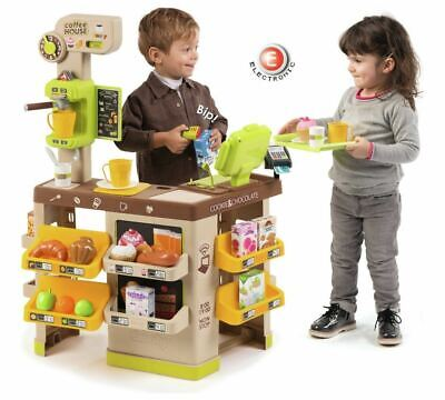 Smoby Kids Coffee House Shop Childrens Role Play Toy + Accessories Fast Delivery • 69.95£
