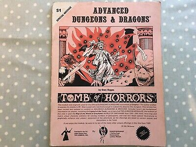 Advanced Dungeons And Dragons Tomb Of Horrors Module 1978 • 12.50£