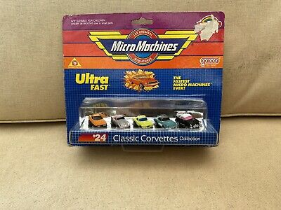 MICRO MACHINES #24 CLASSIC CORVETTE COLLECTION Vintage 1989 • 37.99£