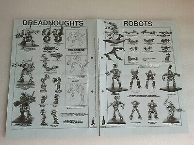 Games Workshop Citadel Flyer - Robots Dreadnoughts Imperal Guard - Warhammer 40k • 8.50£