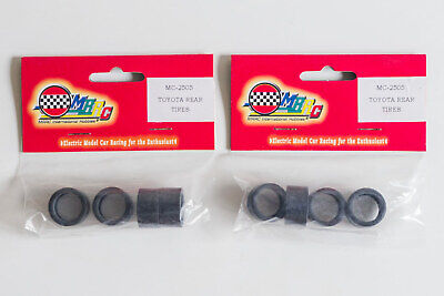2 Packs Of 4 MRRC 1:32 Slot Car Wide Slick Rear Tyres – New • 7.99£
