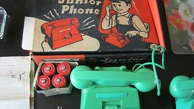 Vintage Toy Telephone (Intercom) Japanese Believed To Be From 50's/60's • 8£