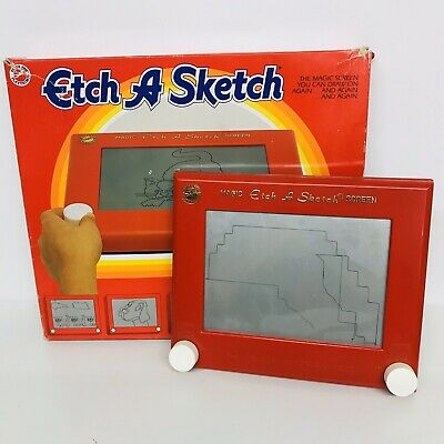 PETER PAN PLAYTHING MAGIC ETCH A SKETCH SCREEN - Vintage - Boxed • 39.99£