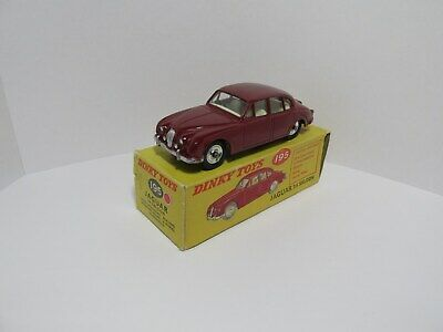 Dinky Toys 195 Jaguar 3.4Saloon.Dark Red.Superb Mint Condition With Original Box • 99.50£