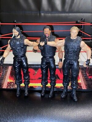 Wwe Mattel Basic The Shield Seth Rollins Roman Reigns Dean Ambrose Figures • 22.97£