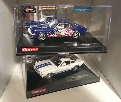 Carerra Ford Mustang X2 GT350 Slot Car Scalextric - White And Liberty Eagle • 50£