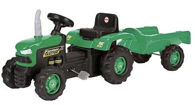 Dolu Green Ride On Pedal Tractor With Detachable Trailer Kids Children Play Toy • 24.40£