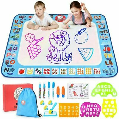 Gamenote Aqua Water Doodle Mat 100*80CM Large Drawing Mat, Blue • 26.89£
